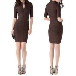 Rare Herve Leger Delilah Zip Front Dress